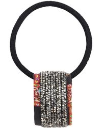Etro Crystal Embroidered Silk Band Hair Tie - Многоцветный