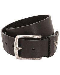 DIESEL 40mm Leather Belt - Black