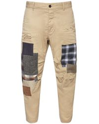 DSquared² Patchwork Skipper Cotton Twill Trousers - Natural