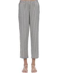Laura Urbinati Printed Silk Satin Pyjama Pants - Multicolour