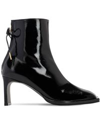 Reike Nen 80mm Patent Leather Ankle Boots - Black