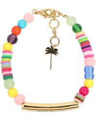 Palm Angels Bracelet Multicolore À Logo - Métallisé