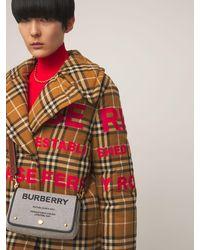 Burberry - Hackberry Cotton Canvas Shoulder Bag - Lyst