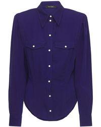 Isabel Marant Рубашка Из Лиоцелла - Синий