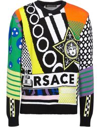 Versace Свитер Из Шерсти American Dream - Многоцветный