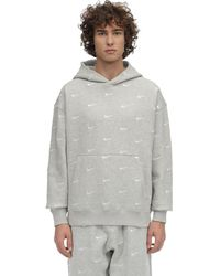 Nike Hoodie Aus Fleece Mit Swoosh-logo - Grau