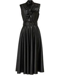 ANOUKI エコレザードレス - ブラック