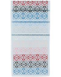 Loewe Printed Anagram Scarf - Blau