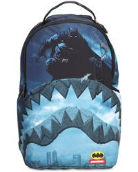 """Sprayground Rucksack Aus Nyloncanvas """"batman Shark"""" - Blau"""