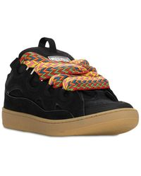Lanvin Curb Leather Sneakers - Black