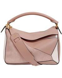 Loewe - Medium Puzzle Leather Top Handle Bag - Lyst