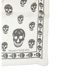 Alexander McQueen - Skull シルクシフォンスカーフ - Lyst