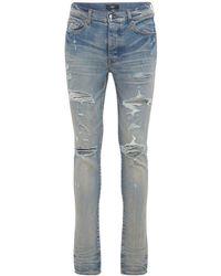 """Amiri 15cm Jeans Aus Baumwolldenim """"trasher Plus"""" - Blau"""