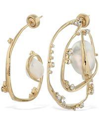 Givenchy Ellipse Asymmetrical Earrings - Mettallic