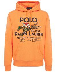 Polo Ralph Lauren Riding Academy コットンブレンドフーディー - オレンジ