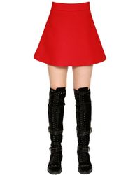 Fausto Puglisi - Flared Cady Mini Skirt - Lyst