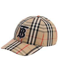 Burberry Basecap aus Baumwolle mit Vintage Check-Muster und Monogrammmotiv - Mehrfarbig