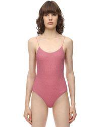 Oséree Lurex & Lycra One Piece Swimsuit - Pink