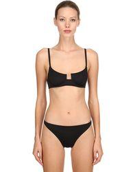 Solid & Striped Re Done Bikini Top W/ Underwire - Black