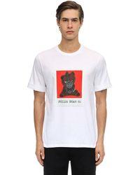 Neil Barrett Camiseta De Algodón Jersey Estampada - Blanco