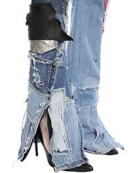 "Ronald Van Der Kemp Patchwork-jeans Aus Denim ""up Cycled"" - Blau"