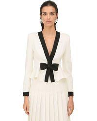 Alessandra Rich クールウールジャケット - ホワイト