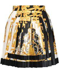Versace Рубашка Из Шелкового Крепа С Принтом - Многоцветный