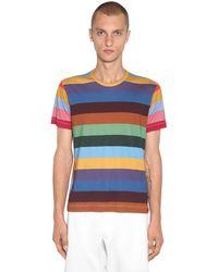Comme des Garçons Gestreiftes T-shirt Aus Baumwolljersey - Mehrfarbig