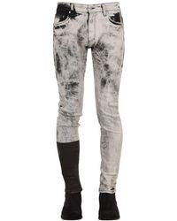 """Represent Jeans """"Essential"""" In Denim Di Misto Cotone - Nero"""