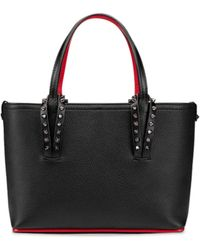 Christian Louboutin Cabata Mini Leather Tote Bag - Black