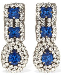 Moschino Crystal Pendant Clip-on Earrings - ブルー