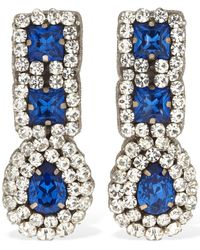 Moschino Crystal Pendant Clip-on Earrings - Multicolor