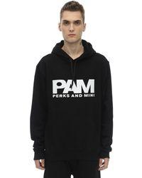 P.a.m. Perks And Mini Btc Logo Cotton Sweatshirt Hoodie - Black