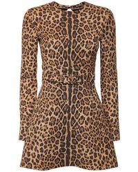 Valentino Couture クレープミニドレス - ブラウン