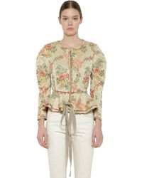 Brock Collection Floral Jacquard Jacket - Multicolor