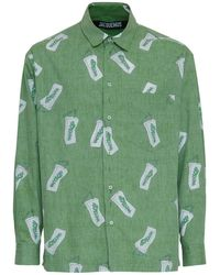 Jacquemus Двусторонняя Хлопковая Рубашка - Зеленый