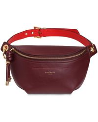 Givenchy Medium Whip Smooth Leather Belt Bag - Red