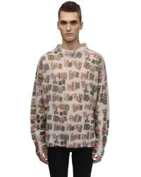 Palm Angels Mohair Blend Knit Sweater - Mehrfarbig