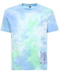 "McQ T-shirt Aus Baumwolle ""genesis Ii"" - Blau"