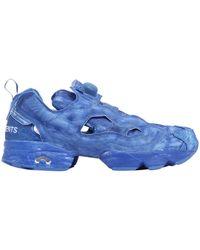 Vetements | Reebok Tech & Leather Pump Sneakers | Lyst