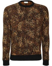Saint Laurent Sweater Aus Alpakamischjacquard - Braun