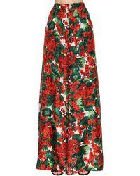 Dolce & Gabbana Брюки Палаццо С Цветочным Принтом - Красный