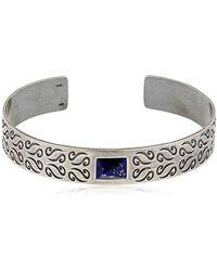 Marco Dal Maso - Ara Silver Bracelet W/ Lapis Lazuli - Lyst