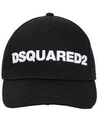 DSquared² Baseballkappe Aus Baumwollcanvas Mit Logopatch - Schwarz