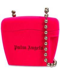 Palm Angels Flock Mini Padlock ショルダーバッグ - ピンク