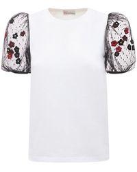 RED Valentino コットンジャージーtシャツ - ホワイト