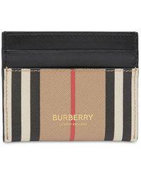 Burberry Sandon キャンバスカードホルダー - ブラック