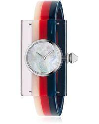 Gucci - Vintage Web Plexiglass Watch - Lyst