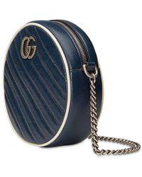 Gucci Gg Marmont Circle Camera Bag - Blau