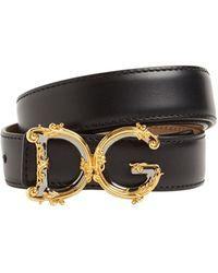 Dolce & Gabbana - Dgバックルレザーベルト 25mm - Lyst